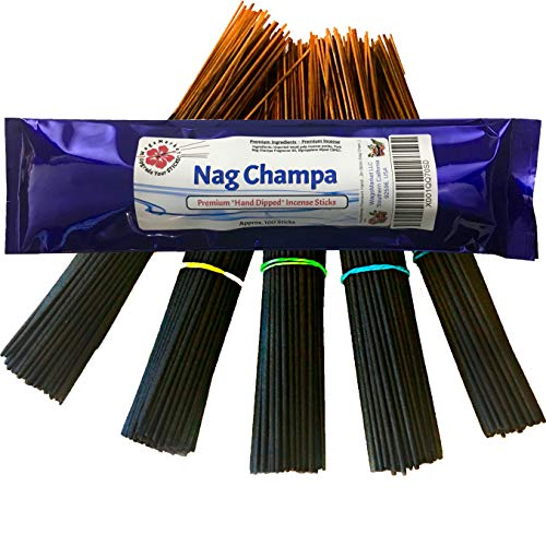 - WagsMarket Premium Hand Dipped Incense Sticks, You Choose The Scent. 100-12in Sticks. (Nag Champa)
