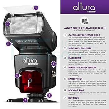 Altura Photo Professional Flash Kit For Nikon Dslr - Includes: I-ttl Flash (Ap-n1001), Wireless Flash Trigger Set & Accessories 9
