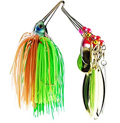 Easy Catch ® 6pcs/lot 18.4g/0.64oz Mixed Wonderfull Colors Fishing Hard Spinner Baits Lures Kit Spinnerbait Pike Bass with Hand Holographic Painted Blades for Saltwater Fishing