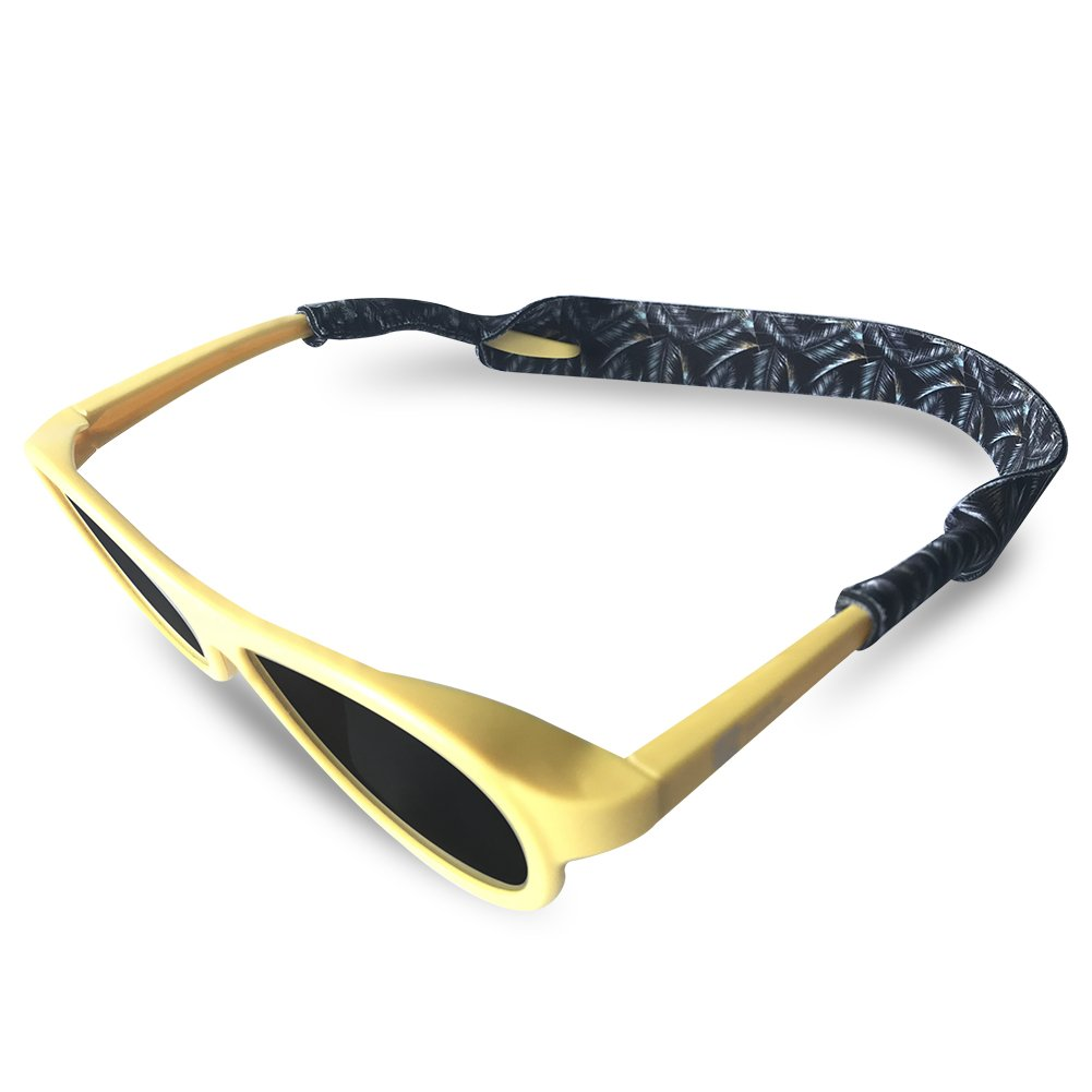 Premium Sunglass Strap-Anti-Slip and Fast Drying Active Sport Glasses Strap Durable & Soft Eyewear Retainer Designed with Floating Neoprene Material,Fit Most Glasses and Eyewear (Dark)