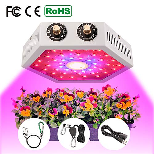 COB LED Grow Light 1000W - Moobibear Grow Lights for Indoor Plants Full Spectrum, Double Adjustable Switch Growing Lamps with Veg and Bloom for Greenhouse Basement Planting
