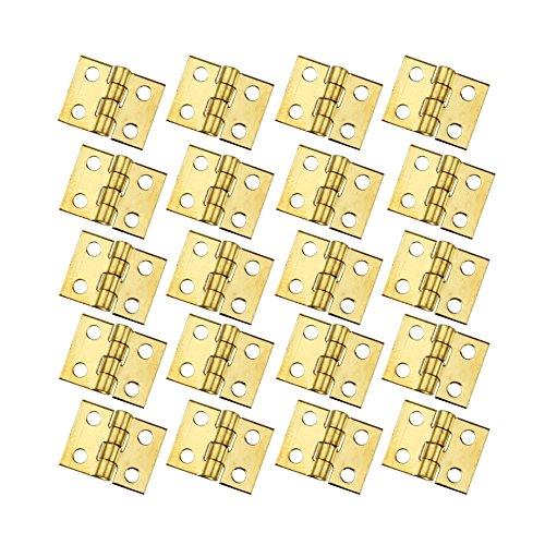 Accessory Hinge Kit (RZDEAL 20 PCS Mini Brass Hinge Hardware 180 Degree Rotation for Dollhouse Miniature Furniture Cabinet Closet(DIY))