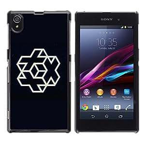 Be Good Phone Accessory // Dura Cáscara cubierta Protectora Caso Carcasa Funda de Protección para Sony Xperia Z1 L39 C6902 C6903 C6906 C6916 C6943 // Plus cube