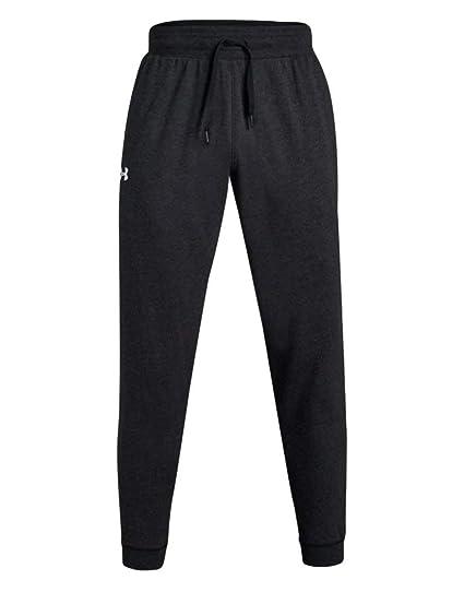 43d95cd24 Under Armour Men's UA Hustle Fleece Jogger Pant (Small, Black Light  Heather-White