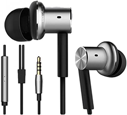 Amazon Com Xiaomi Mi Zbw4326ty Piston In Ear Headphones Pro Dynamic Balanced Armature Hybrid Drivers With Remote And Mic Silver Home Audio Theater