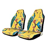 Car Seat Covers Peacocks On Tree Elastic Bucket Seat Cover Universal Fit Most Car/Truck/Suv,2 PCS