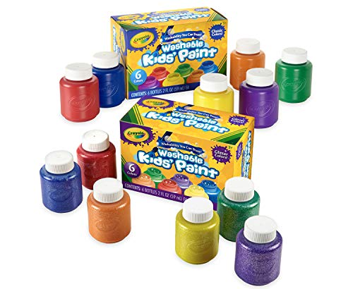 Crayola Washable Kids Paint, 12 Count Now $7.13 (Was $11.99)