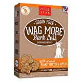 Cloud Star Wag More Bark Less Oven Baked Biscuits, Grain Free Crunchy Dog Treats, with Peanut Butter & Apples -14 oz.