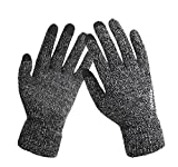 Iwinter knitted Touch Gloves Winter Couples Warm Anti-slip Mittens (Gray)