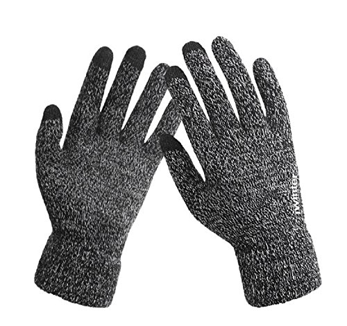 Iwinter knitted Touch Gloves Winter Couples Warm Anti-slip Mittens (Gray) by Iwinter