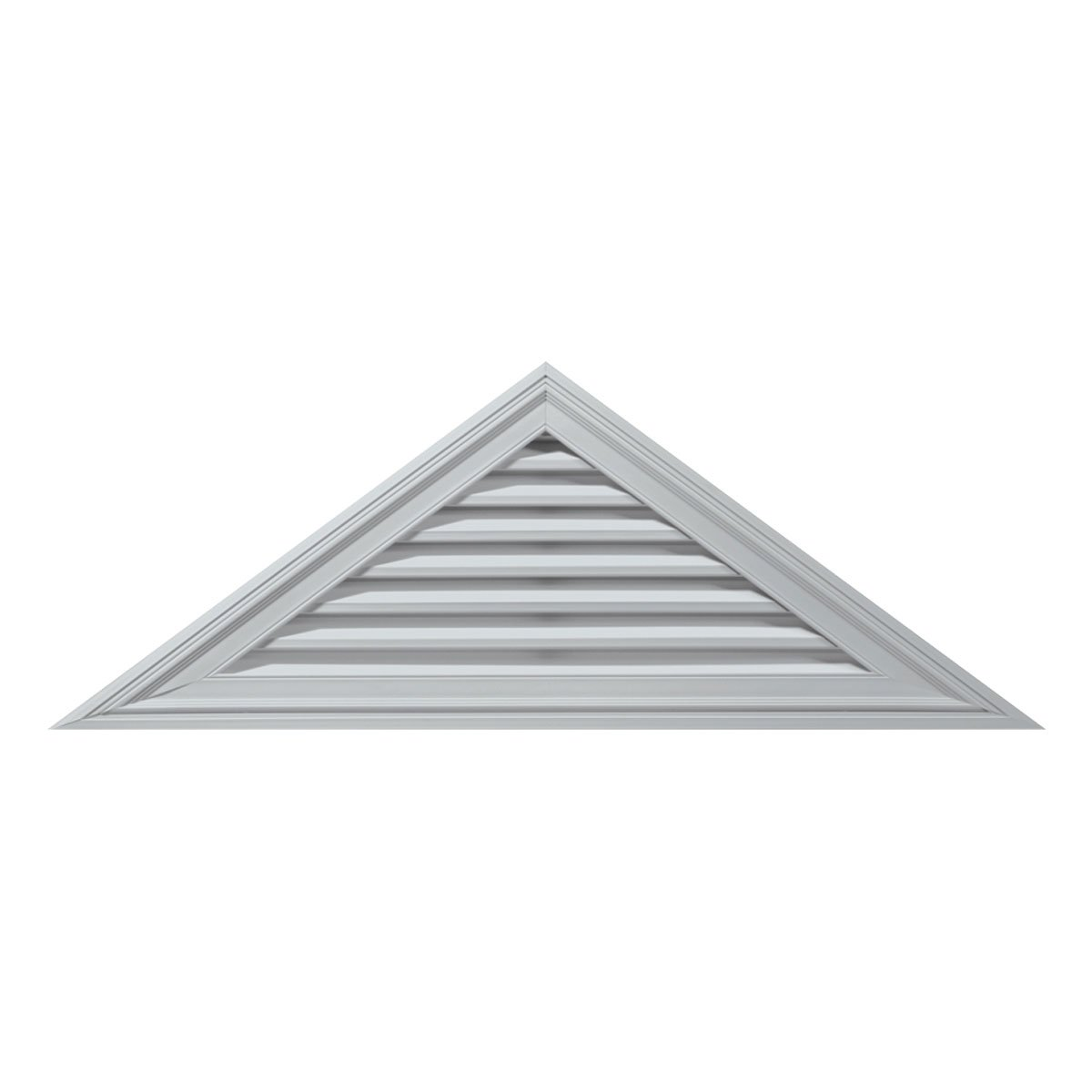Builders Edge 120141007001 56'' x 23'' 10/12 Pitch Triangle Vent 001, White