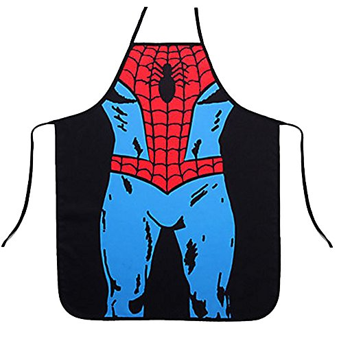 Sexy and Funny Kitchen Apron, Comix Action Figure Spiderman Gift for Him Her APR11008
