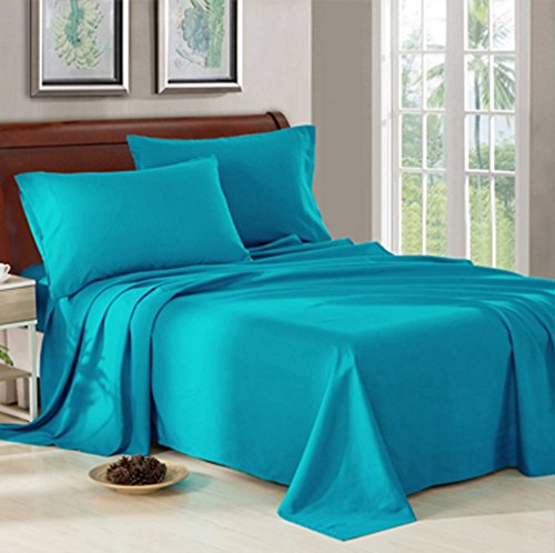 Price comparison product image King Size Bed Sheet Set - 1800 Series Platinum Collection - 100% Brushed Microfiber Bedding Sheets - Deep Pocket,Wrinkle,Fade,Stain Resistant & Hypoallergenic - 4 Piece (Teal)