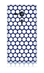 Sublinov carcasa Rígida para Sony Xperia SP-Point azul