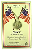 Pewter United States Armed Forces Saint Michael Medal, 1 Inch