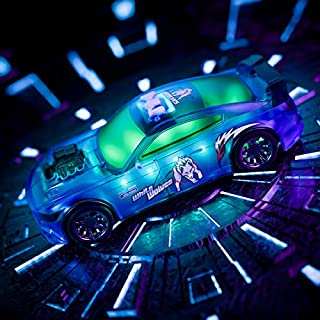 Temi Auto Electrical Driving Toy Car, Programming-Car, 3 Modes of Flashing&Shining Lights and Music & Emulated Voice, Forward/Backward Driving, No Controller, Gift for Kids,Boys,Girls Age 3456 (Blue)