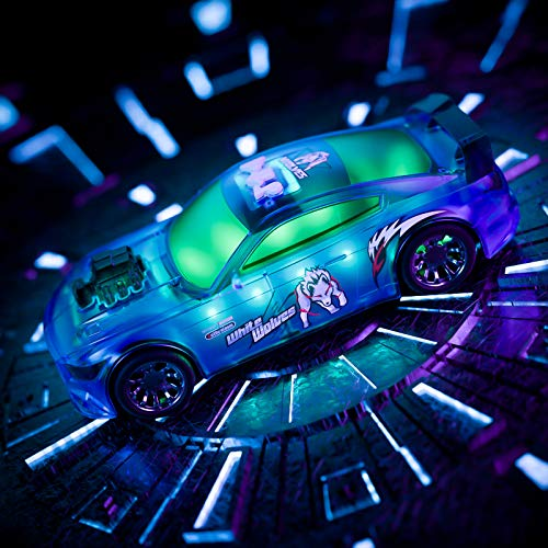 Temi Toy Cars,Electric Race Car Toys with Flashing Lights Engine Sounds, Racing Model Car Sets Glow in The Dark, Xmas Birthday Gifts for 3 4 5 6 7 8 Years Old Toddlers Kids Boys Girls Party Favors