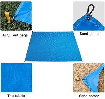 Reisen 140X200CM Blau Camping und Picknick Camping Picknick Decke Wasserdicht Faltbar Ultraleichte f/ür Park BBQ,Strand EletecPro Picknickdecke Outdoor