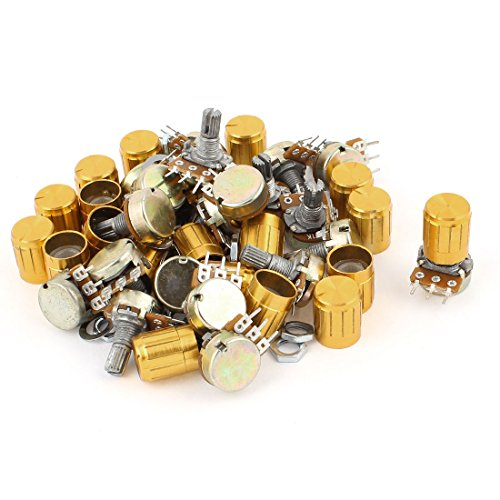 Uxcell a15010500ux0830 20 Piece 1K Ohm Linear Taper Rotary Potentiometer 1KB B1K Pot with Knobs