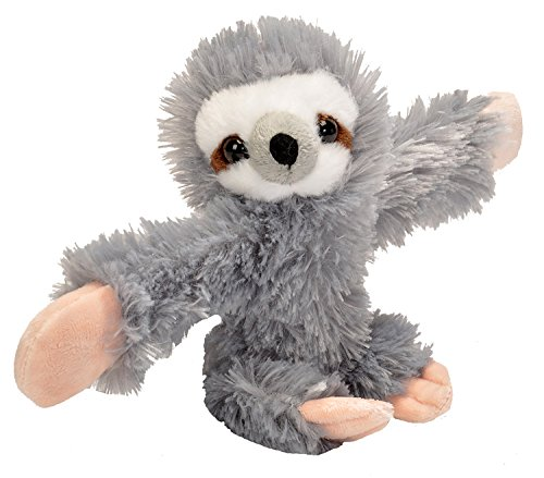 Wild Republic Huggers Sloth Plush, Slap Bracelet, Stuffed Animal, Kids Toys, 8 inches
