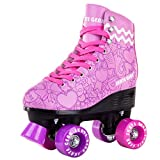 Skate Gear Cute Graphic Quad Roller Skates for Kids and Adults
