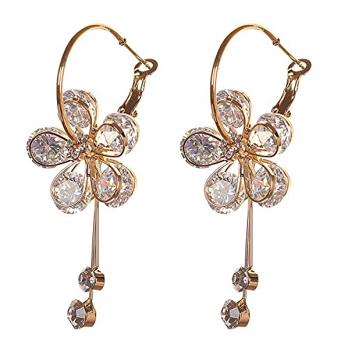 Valentine Gifts : YouBella Jewellery Valentine Collection Floral Fancy Party Wear Earrings for Girls and Women