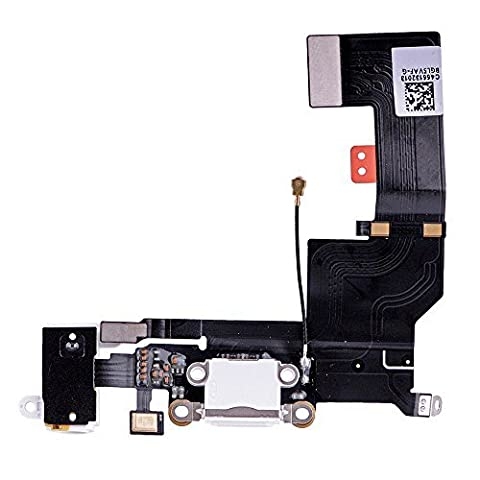 LUVSS New Dock Connector Charger Flex Replacement for iPhone Se USB Port Charging Flex Cable with Mic, Headphone Audio Jack Assembly Repair Parts - Iphone Dock Stereo