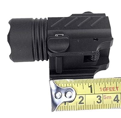 Ade Advanced Optics PL200-A-1 Ultra Compact 400 Lm Bright White LED Rail-Mounted Tactical Flashlight