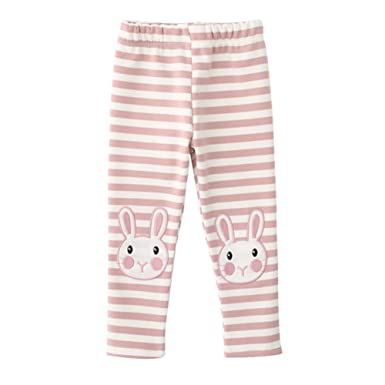 633277518edf6 Kiao Kids Baby Leggings, Girls Cute Rabbit Leggings Winter Warm Thick  Fleece Long Pants: Amazon.co.uk: Clothing