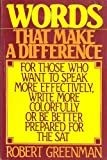 Words That Make a Difference, Robert Greenman, 0918535069
