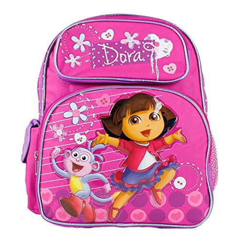 Dora the Explorer and Boots Happy and We Made it Girls 12'' School Backpack Bag by Nickelodeon
