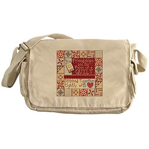 CafePress - Friendships Are Like Quilts - Unique Messenger Bag, Canvas Courier Bag