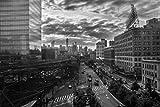 queens new york poster - Queensboro Bridge and Manhattan New York City NYC Skyline B&W Photo Art Print Poster 18x12 inch