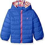 Joules Baby Girls' kinnaird Padded Coat, Dazzling Blue, 2-3 Years