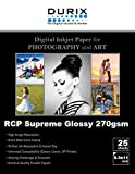 RCP Supreme Glossy 270gsm Digital Inkjet Paper for Photography and Art (8.5-x-11)