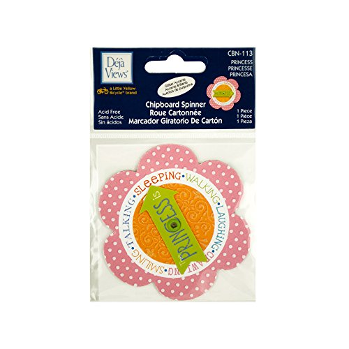 bulk buys Princess Chipboard Spinner Sticker, White/Green/Blue/Red/Orange/Pink