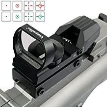 Uniquefire JH400 Green and Red Dot Sight for Reflex Sight Tactical Reflex with 4 Reticles and 5 Levels of Brightness Hd Night Sights