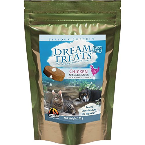 Wysong Dream Treats Chicken - for Dogs/Cats/Ferrets - Raw Food - 4.9 Ounce Bag ()