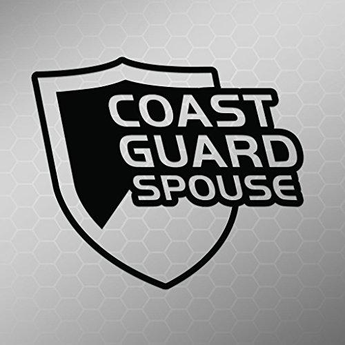 Chief Of The Boat Costumes (Coast Guard Spouce Vinyl Decal Sticker | Cars Trucks Vans Walls Laptops Cups | Black | 5.5 X 4.7 Inch | KCD1708B)