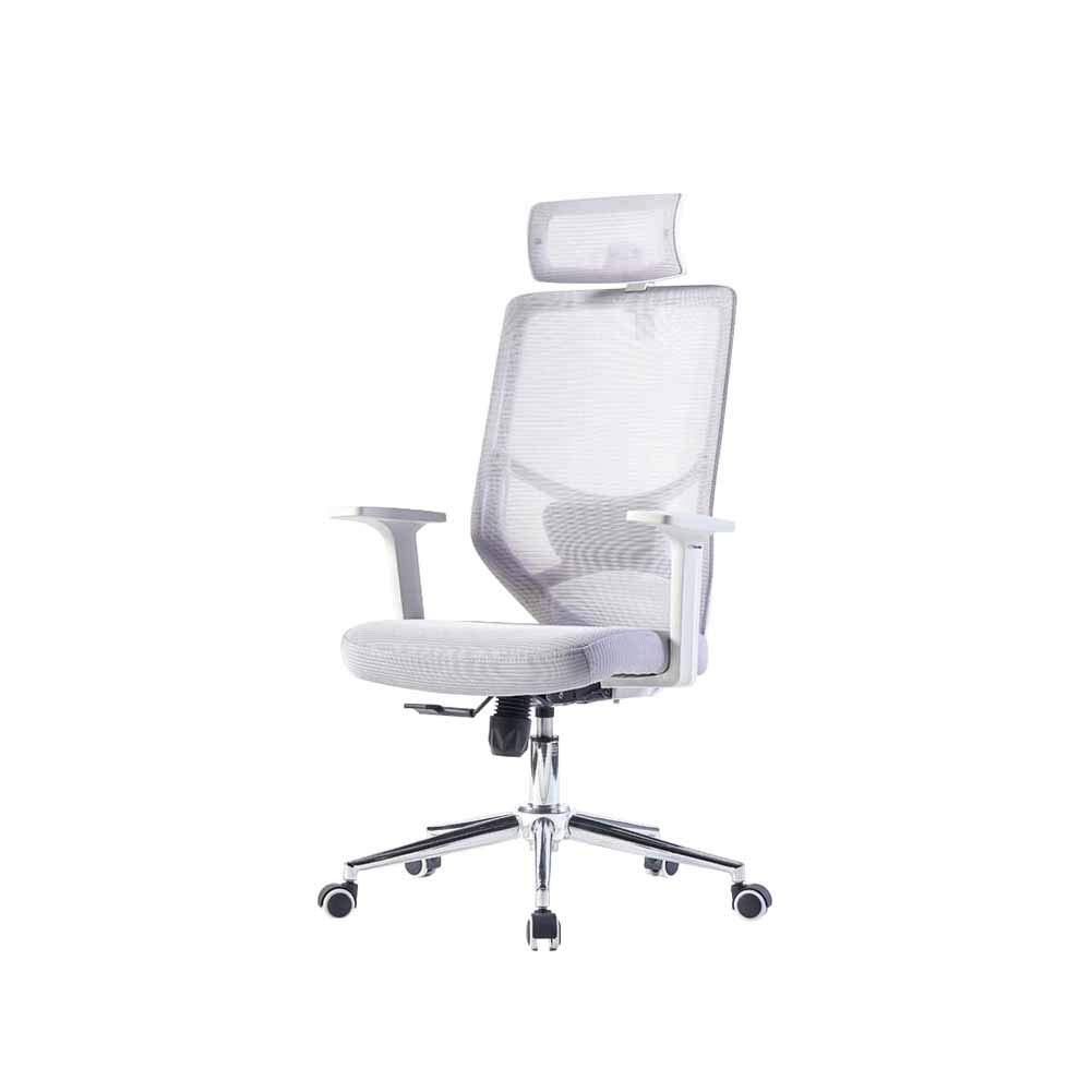 XUERUI 快適 回転椅子 ネットワーク 布 人間工学 コンピューター 椅子 家庭 モダン シンプル オフィス 立上り ドロップ 椅子 耐久性のある (色 : Gray) B07PGQ9QLP Gray