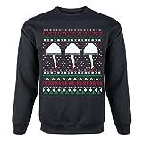Christmas Story Novelty Leg Lamp Sweater - Adult Crew Fleece