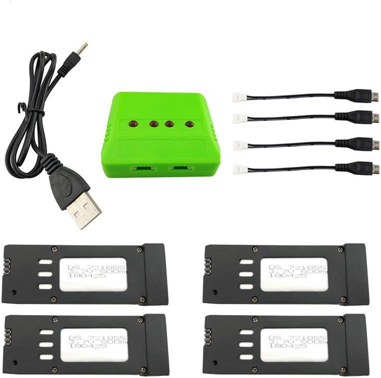 TwoCC 3,7 V 850 Mah Akku mit USB Ladekabel f/ür E58 S168 Jy019 Gd88 L800 Drohne