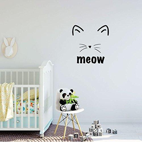 Jumbo Bassinet (Nursery Wall Decal - Meow Cat Design - Vinyl Decor for Baby's Room, Bedroom or Play Room)