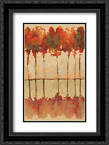 Jenis Print (Autumn Refletions I 2x Matted 18x24 Black Ornate Framed Art Print by Lee, Jeni)