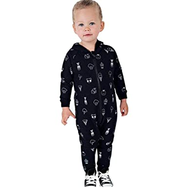 63a83d812 DIGOOD Toddler Baby Boys Girls Cartoon Print Hooded Rompers,For 0-3 Years  Old