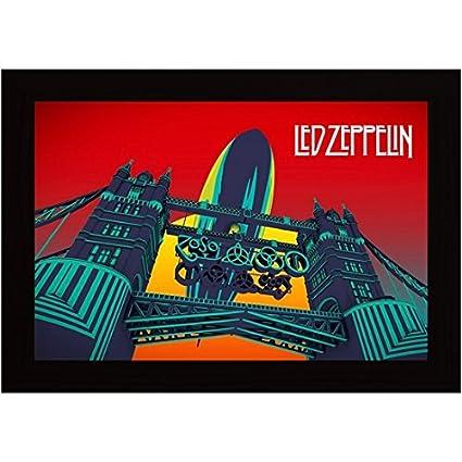 Led Poster Posterskart Mothership Art Framed Album Zeppelin Room For kXZOPui