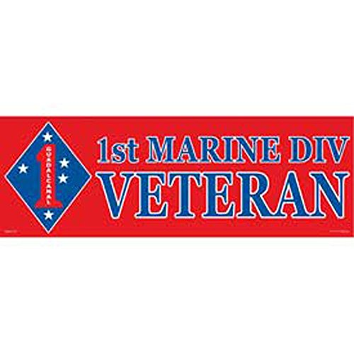 1st Marine Division Proudly Served Bumper Sticker - Bumper Sticker Division Served Proudly