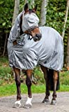 Horze La Pampa Xtra Comfort Mesh Fly Sheet & Fly Mask Set 72'' Grey