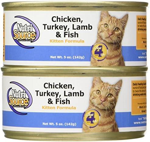 Tuffy S Pet Food 131324 12-Pack Nutri Cat Kitten Chicken Turkey Lamb Fish Food, 5-Ounce