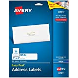Avery Easy Peel 1 x4 Inch White Address Labels 500 Count (8161)